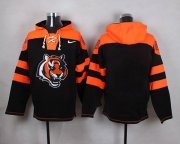 Wholesale Cheap Nike Bengals Blank Black Player Pullover NFL Hoodie