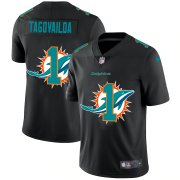 Wholesale Cheap Miami Dolphins #1 Tua Tagovailoa Men's Nike Team Logo Dual Overlap Limited NFL Jersey Black