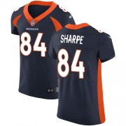 Wholesale Cheap Nike Broncos #84 Shannon Sharpe Navy Blue Alternate Men's Stitched NFL Vapor Untouchable Elite Jersey