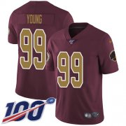 Wholesale Cheap Nike Redskins #99 Chase Young Burgundy Red Alternate Youth Stitched NFL 100th Season Vapor Untouchable Limited Jersey