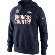 Wholesale Cheap Denver Broncos Nike 2015 AFC Conference Champions Broncos Country Hoodie Navy