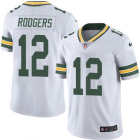 Wholesale Cheap Nike Packers #12 Aaron Rodgers White Men\'s Stitched NFL Vapor Untouchable Limited Jersey