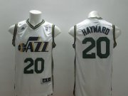 Wholesale Cheap Utah Jazz #20 Gordon Hayward Revolution 30 Swingman White Swingman Jersey
