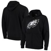 Wholesale Cheap Philadelphia Eagles G-III Sports by Carl Banks Primary Logo Full-Zip Hoodie Black