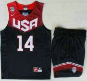 Wholesale Cheap 2014 USA Dream Team #14 Anthony Davis Blue Basketball Jersey Suits