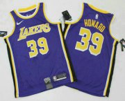 Wholesale Cheap Men's Los Angeles Lakers #39 Dwight Howard Purple 2019 Nike Swingman Printed NBA Jersey