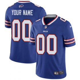 Wholesale Cheap Nike Buffalo Bills Customized Royal Blue Team Color Stitched Vapor Untouchable Limited Men\'s NFL Jersey