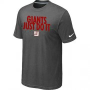 Wholesale Cheap Nike New York Giants Just Do It Dark Grey T-Shirt