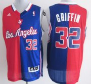 Wholesale Cheap Los Angeles Clippers #32 Blake Griffin Revolution 30 Swingman Red/Blue Two Tone Jersey