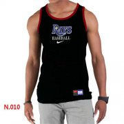 Wholesale Cheap Men's Nike Tampa Bay Rays Home Practice Tank Top Black