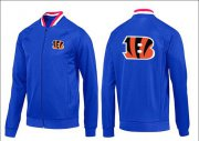 Wholesale Cheap NFL Cincinnati Bengals Team Logo Jacket Blue_1