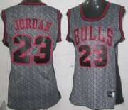 Wholesale Cheap Chicago Bulls #23 Michael Jordan Gray Static Fashion Womens Jersey