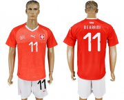 Wholesale Cheap Switzerland #11 Behrami Red Home Soccer Country Jersey