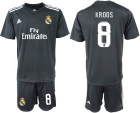 Wholesale Cheap Real Madrid #8 Kroos Away Soccer Club Jersey