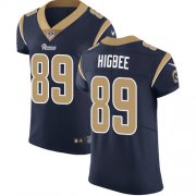 Wholesale Cheap Nike Rams #89 Tyler Higbee Navy Blue Team Color Men's Stitched NFL Vapor Untouchable Elite Jersey