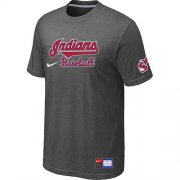 Wholesale Cheap Nike Cleveland Indians Short Sleeve Practice T-Shirt Dark Grey