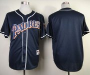 Wholesale Cheap Padres Blank Navy Blue 1998 Turn Back The Clock Stitched MLB Jersey