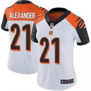 Wholesale Cheap Nike Bengals #21 Mackensie Alexander White Women's Stitched NFL Vapor Untouchable Limited Jersey