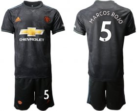 Wholesale Cheap Manchester United #5 Marcos Rojo Third Soccer Club Jersey
