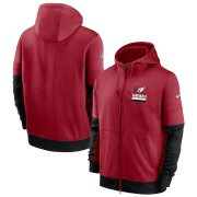 Wholesale Cheap Arizona Cardinals Nike Sideline Impact Lockup Performance Full-Zip Hoodie Cardinal