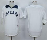 Wholesale Cheap White Sox Blank White 1976 Turn Back The Clock Stitched MLB Jersey