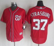 Wholesale Cheap Nationals #37 Stephen Strasburg Red New Cool Base Stitched MLB Jersey