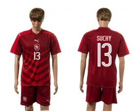 Wholesale Cheap Czech #13 Suchy Red Home Soccer Country Jersey