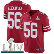 Wholesale Cheap Nike 49ers #56 Kwon Alexander Red Super Bowl LIV 2020 Team Color Men's Stitched NFL Vapor Untouchable Limited Jersey
