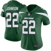 Wholesale Cheap Nike Jets #22 Trumaine Johnson Green Team Color Women's Stitched NFL Vapor Untouchable Limited Jersey
