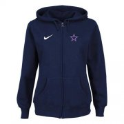 Wholesale Cheap Nike Dallas Cowboys Ladies Tailgater Full Zip Hoodie Blue