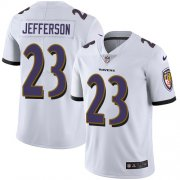 Wholesale Cheap Nike Ravens #23 Tony Jefferson White Men's Stitched NFL Vapor Untouchable Limited Jersey