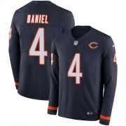 Wholesale Cheap Nike Bears #4 Chase Daniel Navy Blue Team Color Men's Stitched NFL Limited Therma Long Sleeve Jersey