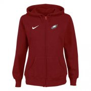 Wholesale Cheap Nike Philadelphia Eagles Ladies Tailgater Full Zip Hoodie Red