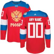 Wholesale Cheap Men's Adidas Team Russia Personalized Authentic Red Road 2016 World Cup NHL Jersey
