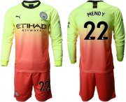 Wholesale Cheap Manchester City #22 Mendy Third Long Sleeves Soccer Club Jersey