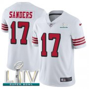 Wholesale Cheap Nike 49ers #17 Emmanuel Sanders White Super Bowl LIV 2020 Rush Men's Stitched NFL Vapor Untouchable Limited Jersey
