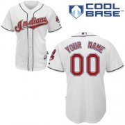 Wholesale Cheap Indians Personalized Authentic White MLB Jersey (S-3XL)