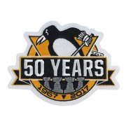 Wholesale Cheap Stitched 2017 Official Pittsburgh Penguins 50th Anniversary Jersey Patch