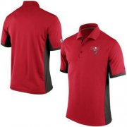 Wholesale Cheap Men's Nike NFL Tampa Bay Buccaneers Red Team Issue Performance Polo