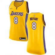 Wholesale Cheap Nike Los Angeles Lakers #8 Kobe Bryant Gold Women's NBA Swingman Icon Edition Jersey