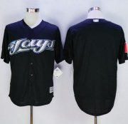 Wholesale Cheap Blue Jays Blank Black New Cool Base Stitched MLB Jersey