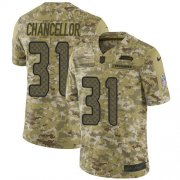 Wholesale Cheap Nike Seahawks #31 Kam Chancellor Camo Men's Stitched NFL Limited 2018 Salute To Service Jersey