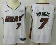 Wholesale Cheap Men's Miami Heat #7 Goran Dragic White 2017-2018 Nike Swingman Ultimate Software Stitched NBA Jersey