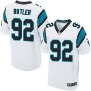 Wholesale Cheap Nike Panthers #92 Vernon Butler White Men's Stitched NFL Elite Jersey