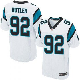 Wholesale Cheap Nike Panthers #92 Vernon Butler White Men\'s Stitched NFL Elite Jersey
