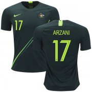 Wholesale Cheap Australia #17 Arzani Away Soccer Country Jersey