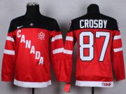 Wholesale Cheap Team Canada #87 Sidney Crosby Red 100th Anniversary Stitched Youth NHL Jersey