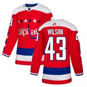 Wholesale Cheap Adidas Capitals #43 Tom Wilson Red Alternate Authentic Stitched NHL Jersey