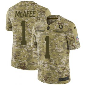Wholesale Cheap Nike Colts #1 Pat McAfee Camo Men\'s Stitched NFL Limited 2018 Salute To Service Jersey