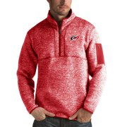 Wholesale Cheap Carolina Hurricanes Antigua Fortune Quarter-Zip Pullover Jacket Red